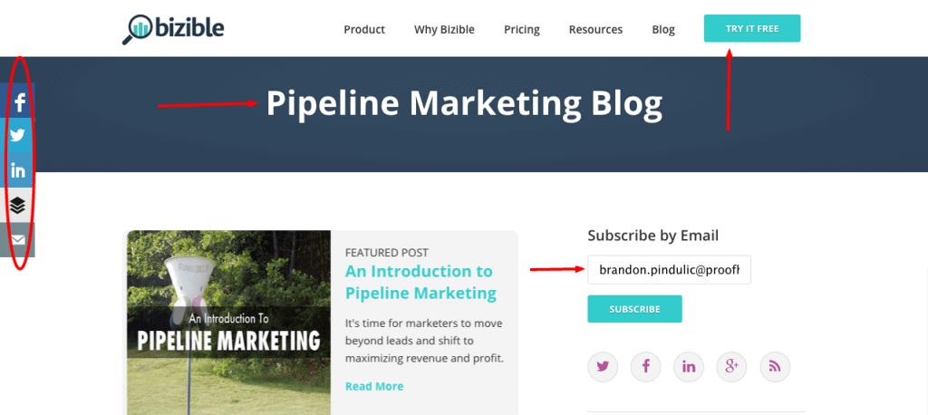 Bizible blog
