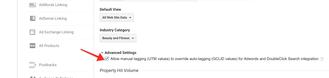 Advanced Analytics Settings