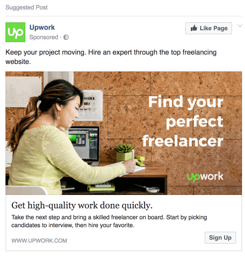 Example of Facebook Ad