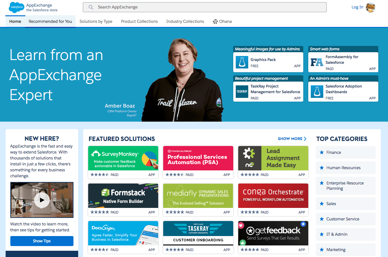 AppExchange the Salesforce store