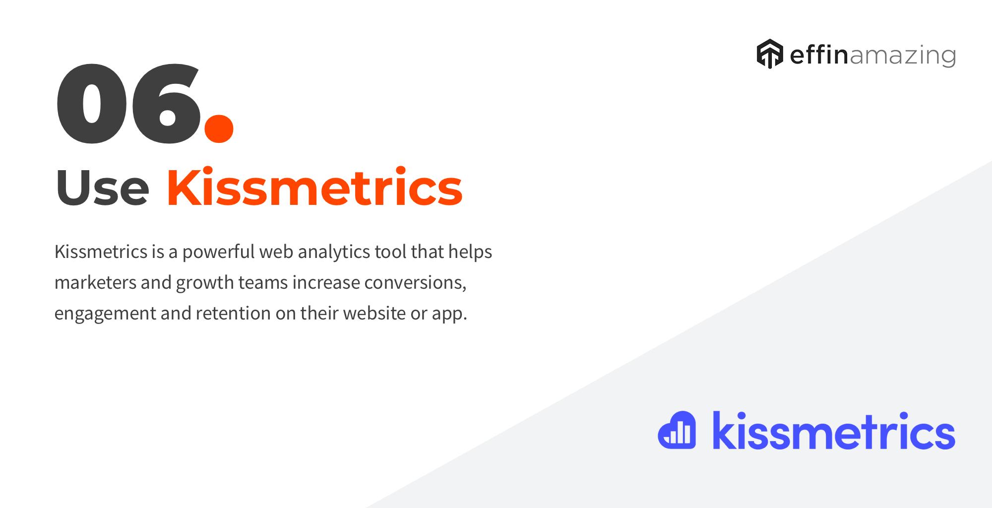 Kissmetrics website analytics