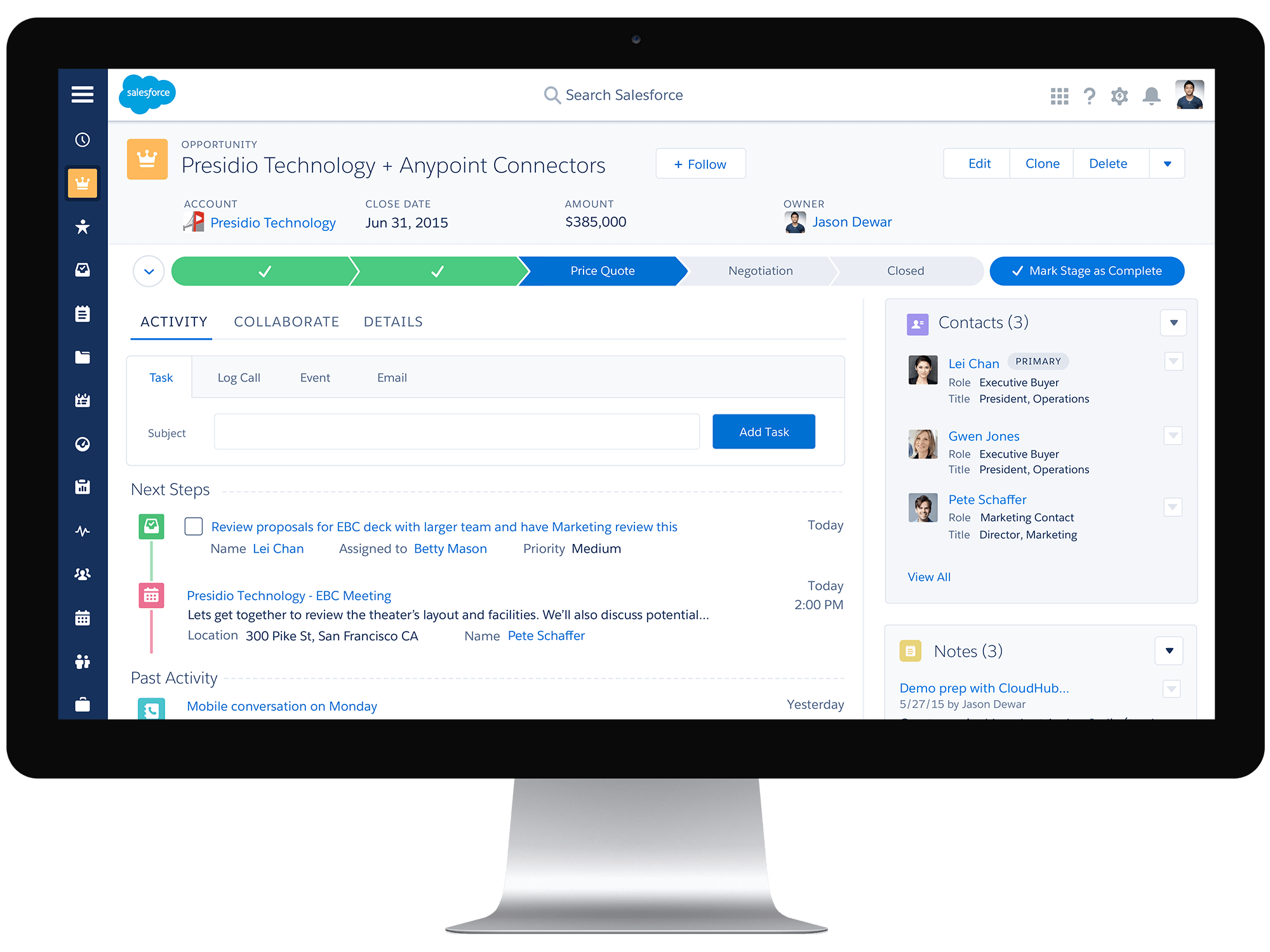 Salesforce Opportunity Workspace