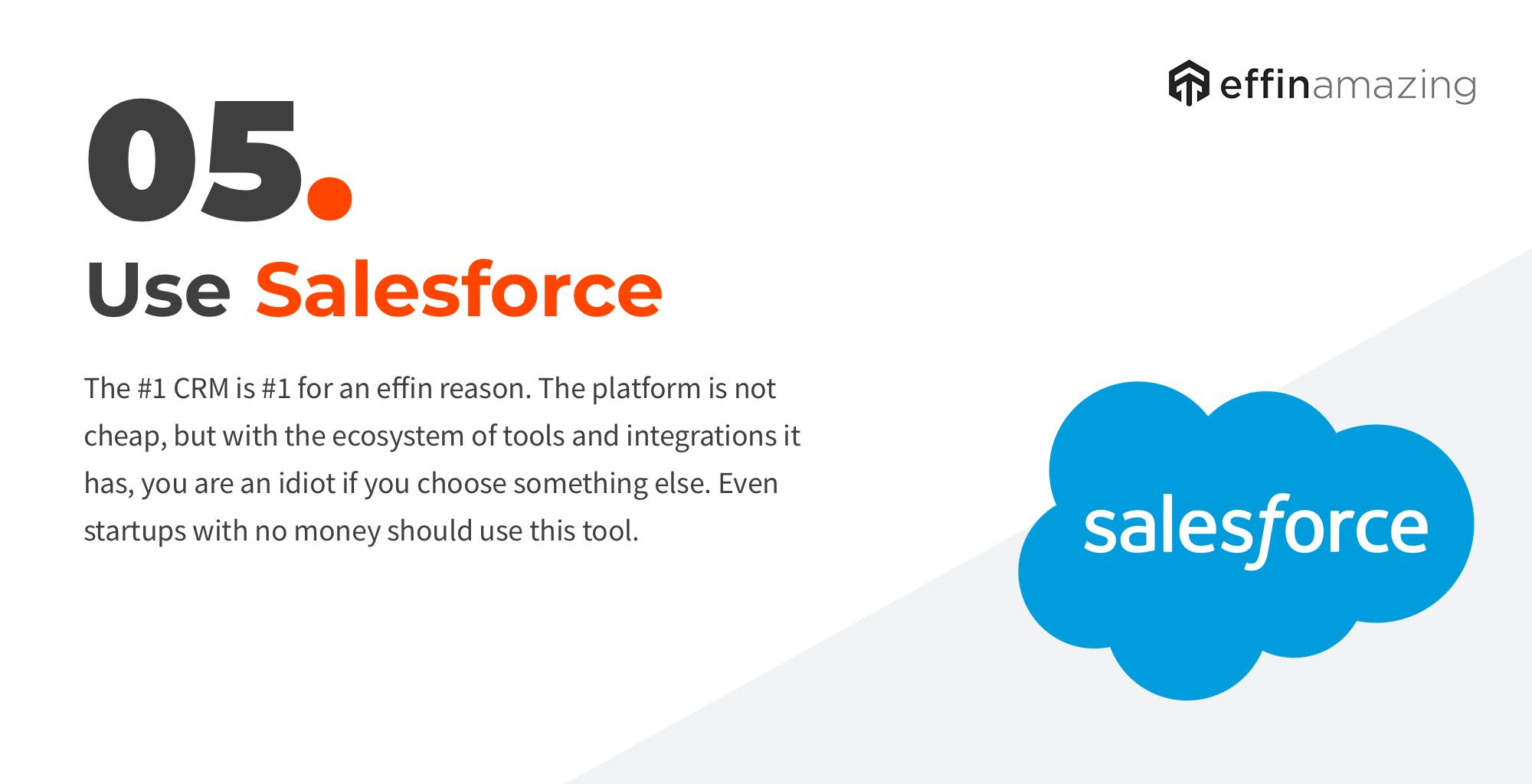 Salesforce marketing stack