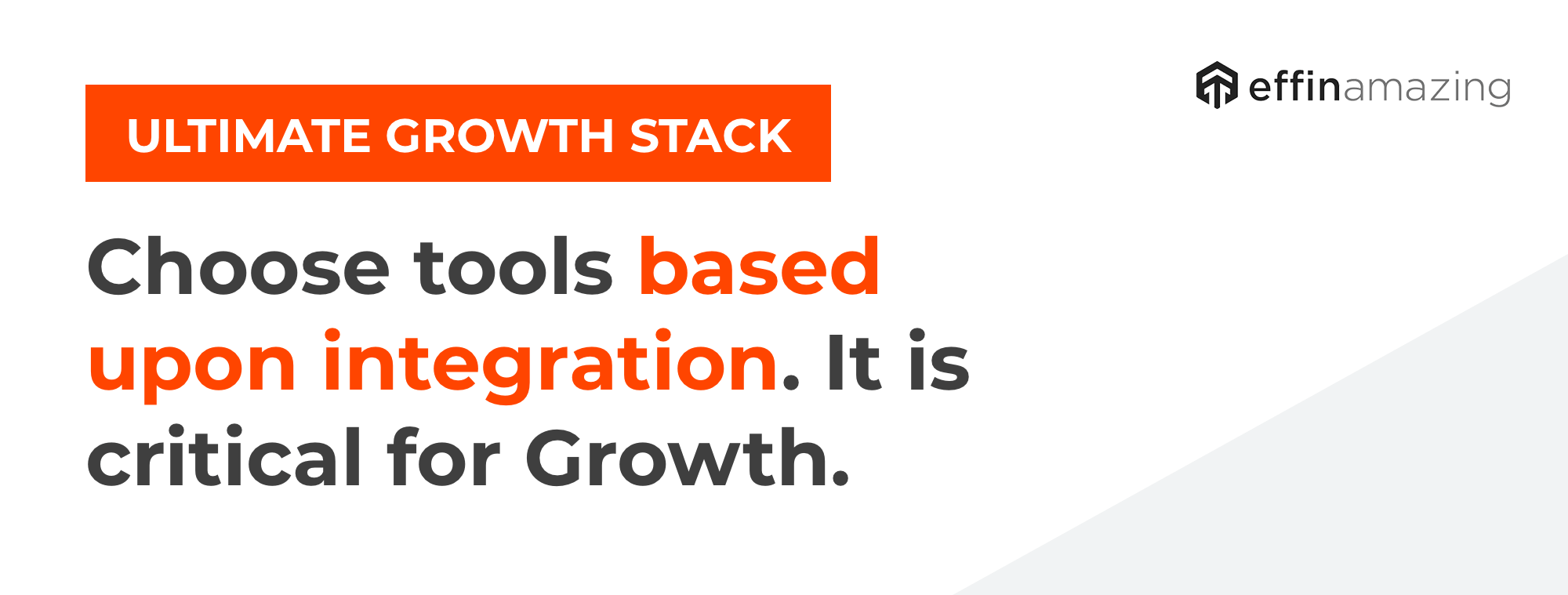 The ultimate growth stack and integration