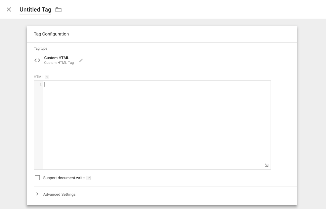 untitled tag in google tag manager