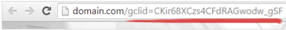 gclid tag examples in a URL